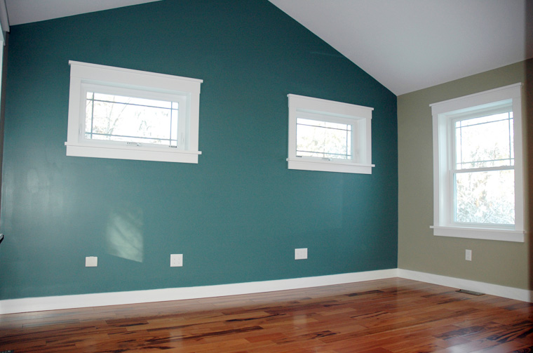 New bedroom with wood flooring