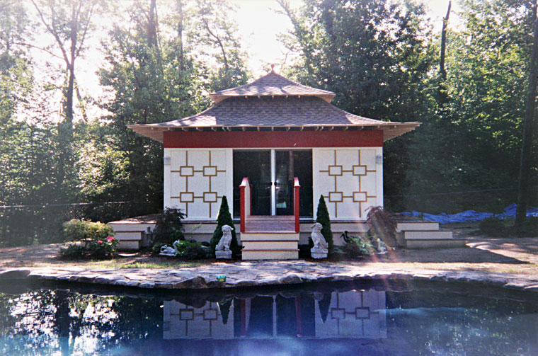 Pagoda by a pool